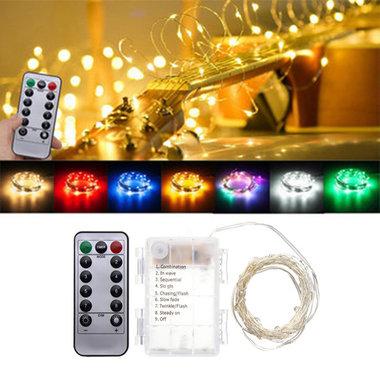 Batteriebetrieben 5M 50LEDs Weihnacht Lichterkette mit 8 Funktionen und Fernbedienung