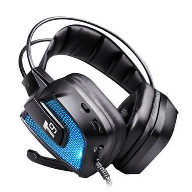 T9 50mm Driver LED Flashing Vibration Gaming Headphone Headset With Mic