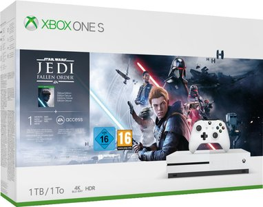 Xbox One S 1TB Konsole - Star Wars Jedi: Fallen Order Bundle